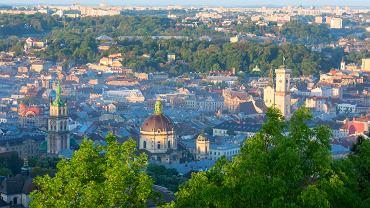 Lwów zabytki - Panorama Lwowa ze wzgórza zamkowego