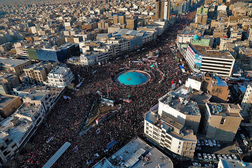 Teheran, 6 stycznia. Uroczystości pogrzebowe Kassima Sulejmaniego