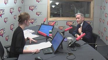 Robert Biedroń i Karolina Lewicka w studiu radia TOK FM