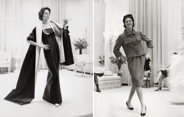 Projekty pracowni Chez Ninon z lat 90., w której uszyto słynny kostium Jackie Kennedy (fot. Suz Signature Styles)