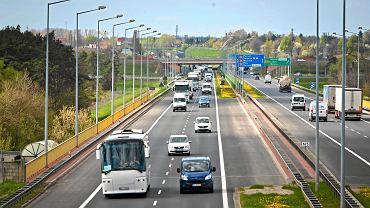 Autostrada A2. Obwodnica Poznania na wysokości Starołęki