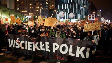 30.10.2020, Warszawa, manifestacja przeciwko wyrokowi zaostrzającemu ustawę antyaborcyjną.