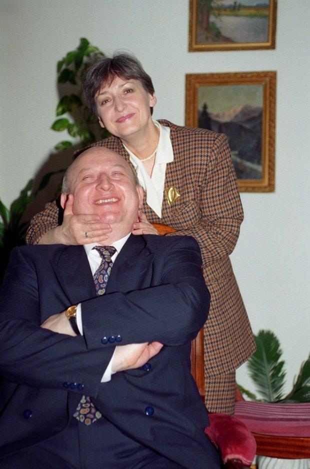 Józef Oleksy z żoną