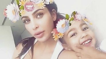 Kim Kardashian z córką North West