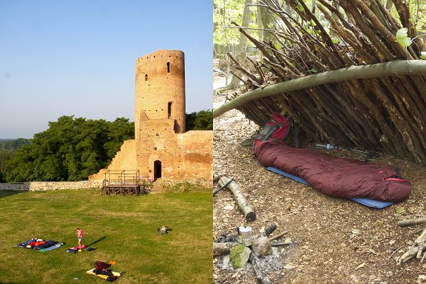 Nocleg w leśnym szałasie czy na dziedzińcu zamku? Ogranicza cię tylko wyobraźnia