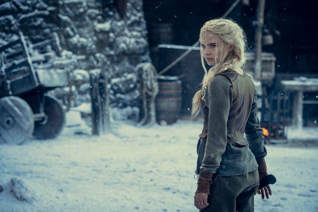 Ciri (Freya Allan) podczas treningu w Kaer Morhen, 'Wiedźmin', sezon 2.