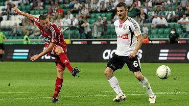 To były czasy... Kamil Adamek (z lewej)w meczu Legia - Podbeskidzie