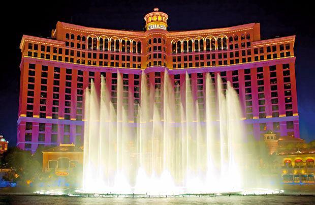 Lans Vegas - oaza seksu, hazardu i... głupoty, ameryka, podróże, Fontanny Bellagio