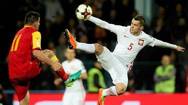 Krzysztof Mączyński podczas meczu eliminacji Mistrzostw Świata: Czarnogóra - Polska