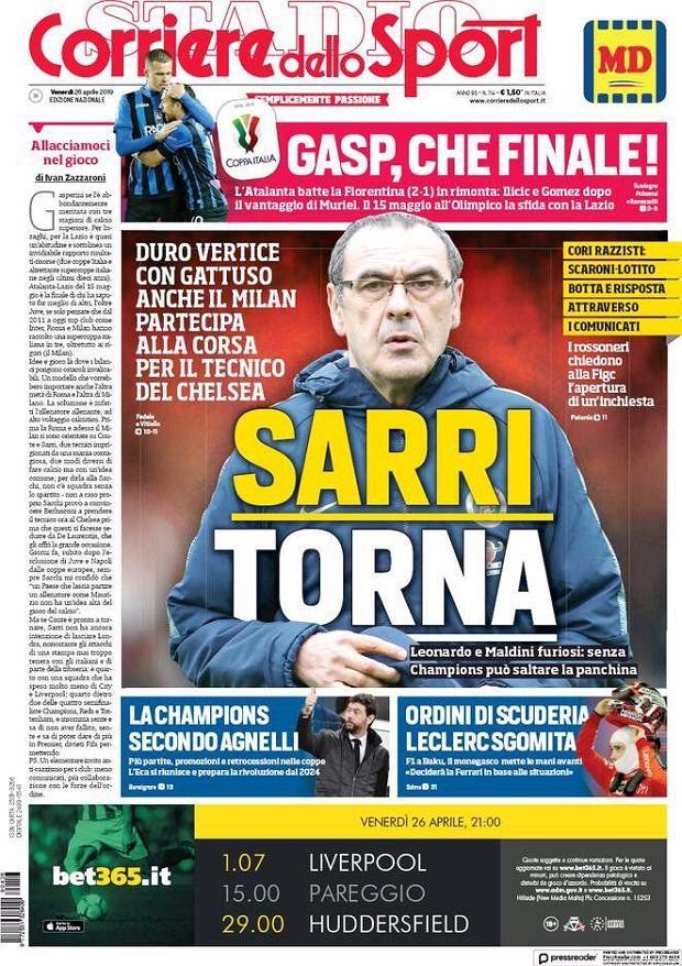 Maurizio Sarri może zostać trenerem Milanu