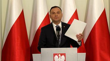 Oświadczenie Prezydenta Dudy ws. reformy sądownictwa, 25.09.2017 Warszawa, Pałac Prezydencki .