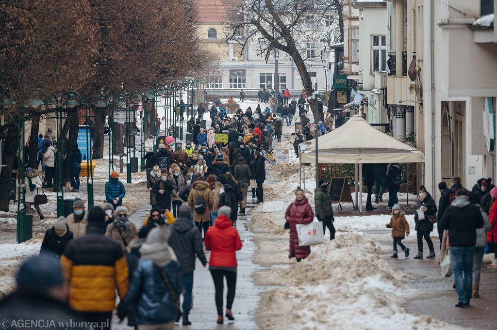 Tłumy w Sopocie