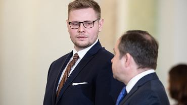 Minister środowiska w rządzie PiS Michał Woś. Warszawa, Pałac Prezydencki, 5 marca 2020