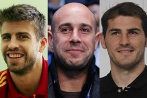 Gerard Pique, Iker Casillas, Pepe Reina.