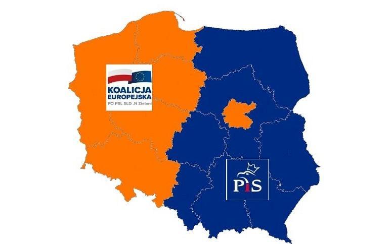 Polska podzielona na pół