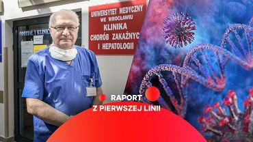 prof. Krzysztof Simon - ordynator oddziału zakaźnego Wojewódzkiego Szpitala Specjalistycznego im. J. Gromkowskiego we Wrocławiu.