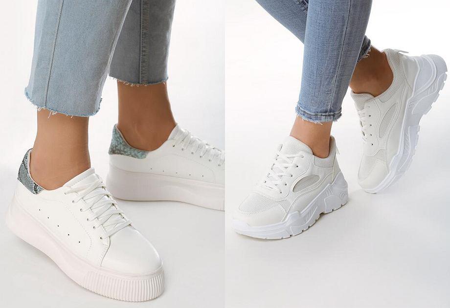 Sneakersy w białym kolorze