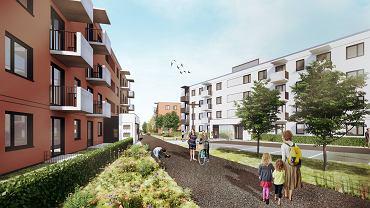 Osiedle przy ul. Okólnej w Toruniu zaprojektowane przez warszawską pracownię S.A.M.I Architekci, to osiem czterokondygnacyjnych budynków, a w nich 320 mieszkań