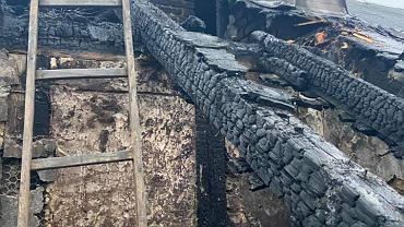 Pożar budynku przy u. Studziennej w Katowicach