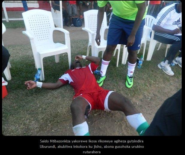 Mecz Burundi - Rwanda. Jak poważny jest uraz Saidiego Ntibazonkizy?