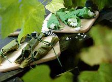 Gołąbki w liściach winogron z ryżem - ugotuj