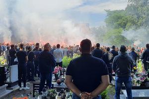 Tłumy kibiców na pogrzebie Piotra Rockiego. Byli reprezentanci Polski pożegnali przyjaciela
