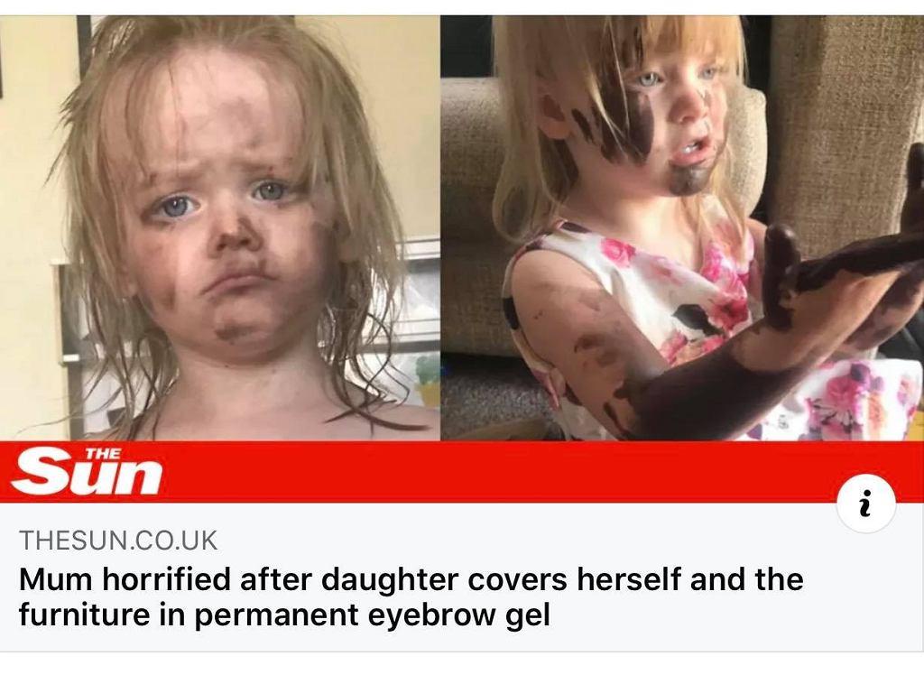 Mama odwróciła się na sekundę, a jej córka znalazła wodoodporne kosmetyki. Meble już do wyrzucenia