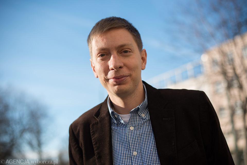 Michał Bilewicz, psycholog społeczny i publicysta, 2014 r.