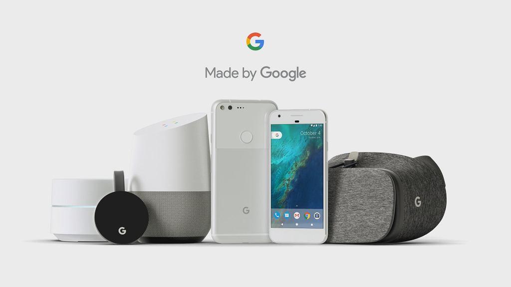 Sprzęt zaprezentowany na konferencji Google 4 października 2016