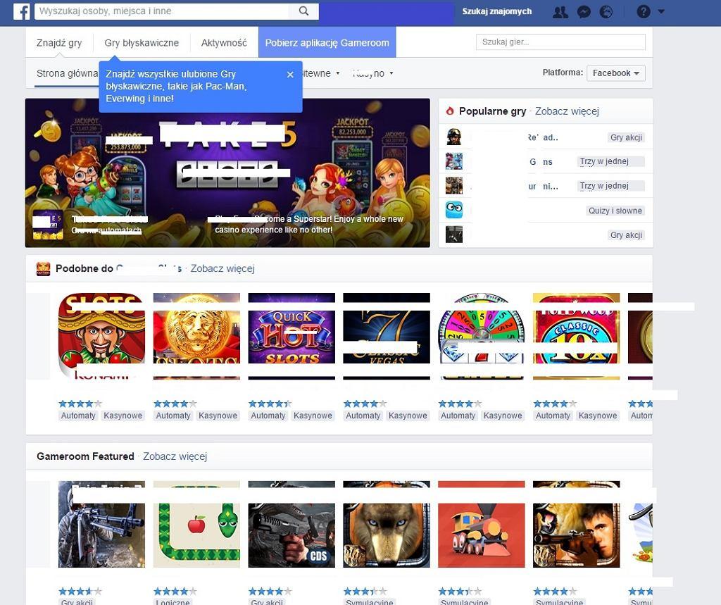 Ministerstwo Finansów bada, czy Facebook oferuje dostęp do zabronionych gier hazardowych