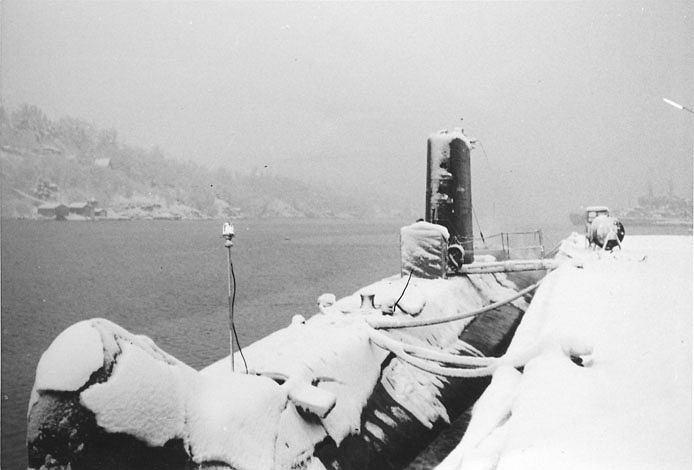 Okręt podwodny Minerwa w trakcie okresu próby w 1962 roku
