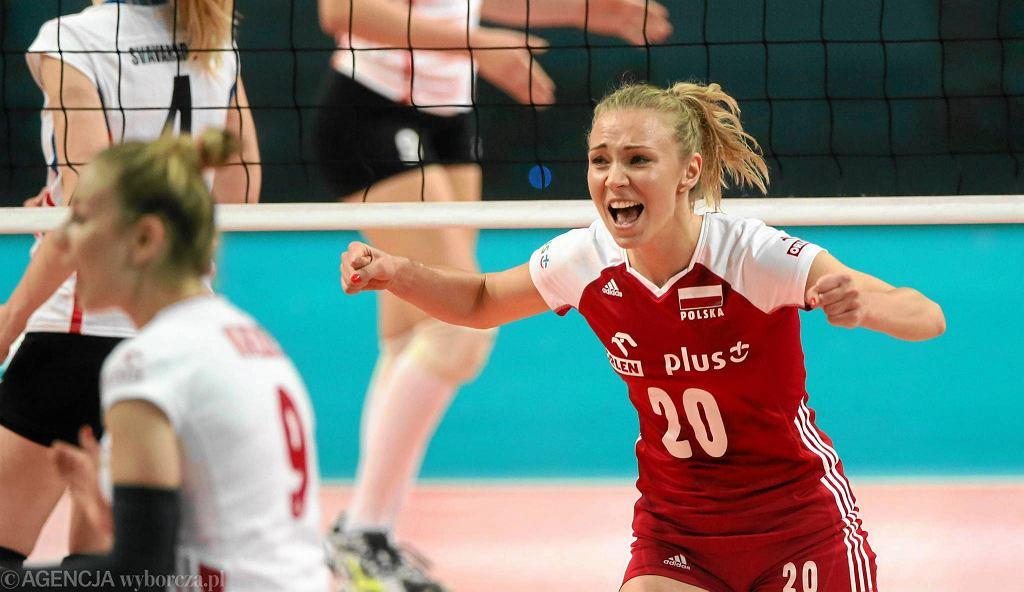Marlena Plesnierowicz podczas meczu Polska - Islandia