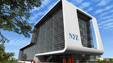 Koncepcja architektoniczna nowej siedziby NFZ-etu pochodzi ze strony internetowej kancelarii radców prawnych Ćwik i Partnerzy, cwik-partnerzy.pl, na którą odsyła Biuletyn Zamówień Publicznych. Autorem koncepcji jest autorska pracownia architektury Alicji Bojarowicz B&B Arch Studio