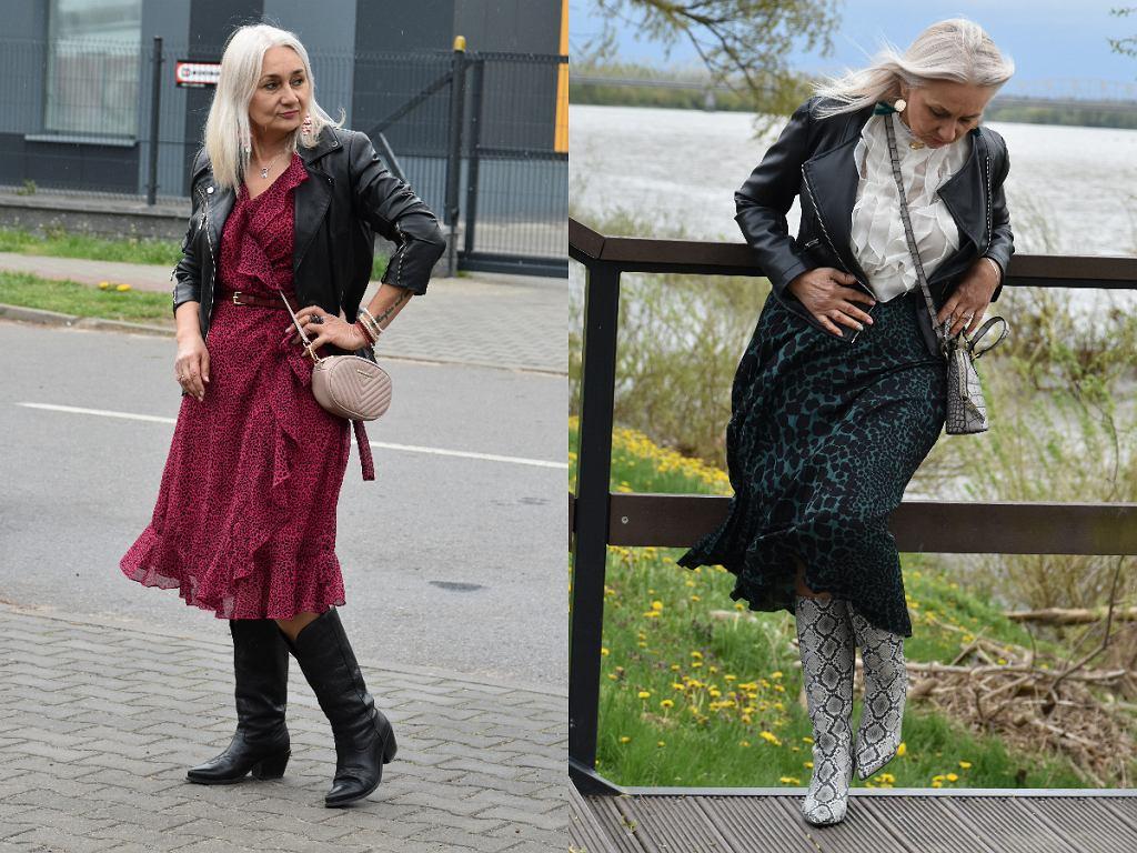 Zwiewna sukienka i spódnica w stylizacji Marzenny Walczak