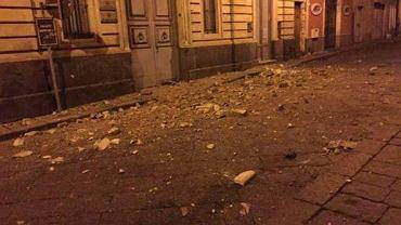 Skutki trzęsienia ziemi na Sycylii