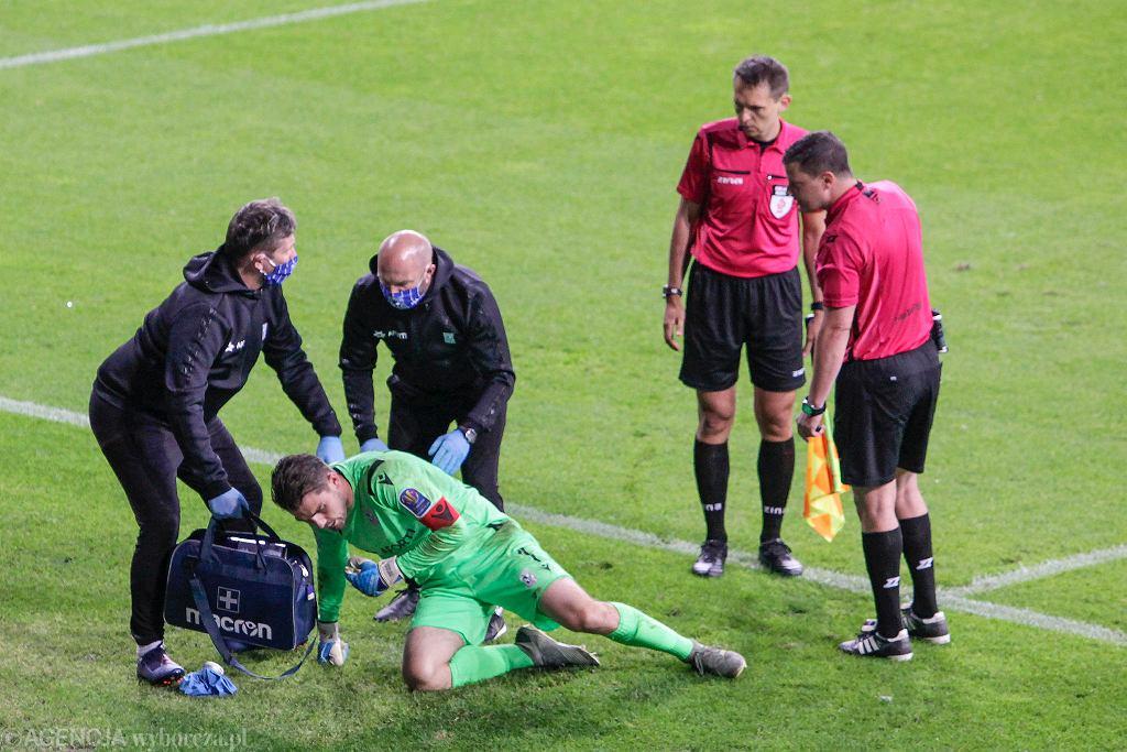 Mickey van der Hart podczas meczu Lech Poznań - Lechia Gdańsk