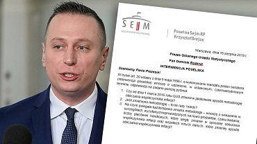 Krzysztof Brejza pyta GUS o metodologię obliczania inflacji