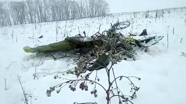 Miejsce katastrofy rosyjskiego samolotu