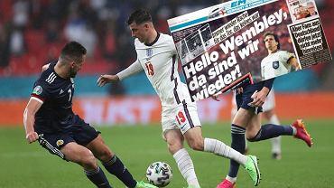 Okładka 'Bilda' przed meczem Niemcy - Anglia