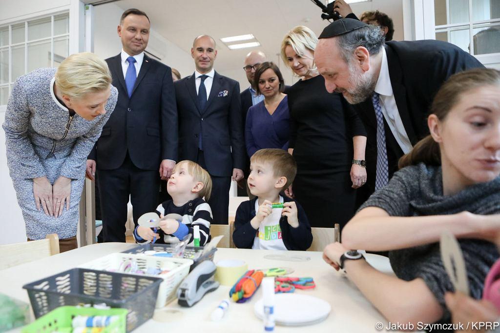 Para Prezydencka w Centrum Społeczności Żydowskiej w Krakowie