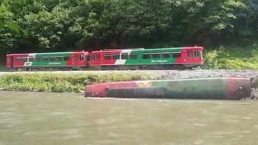 Wypadek kolejki wąskotorowej w Austrii (Fot: Youtube)