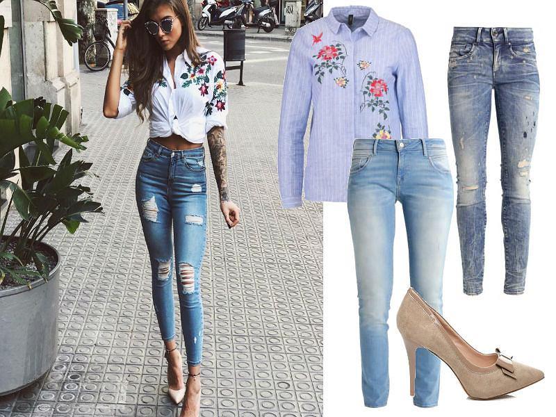 Deynn w jeansowych stylizacjach
