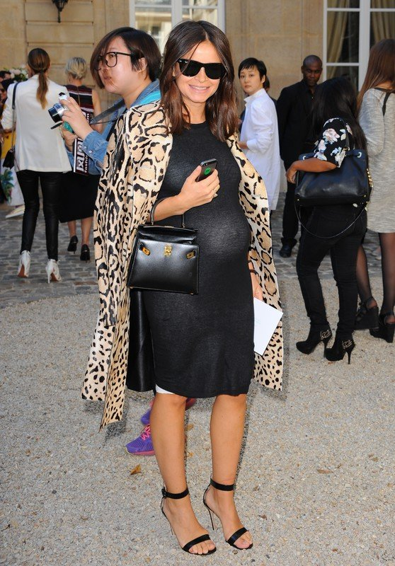 bCelebrities attend the Viktor & Rolf show as part of Paris Fashion Week.  Pictured: Miroslava Duma