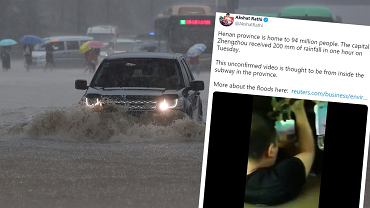 Ogromne powodzie w Chinach