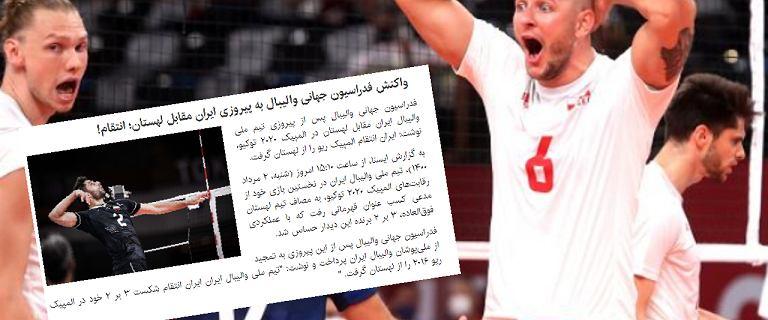 """Irańczycy reagują po meczu z Polską na igrzyskach w Tokio. """"Zemsta"""""""