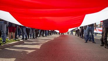 Protest wobec represji Łukaszenki na Białorusi