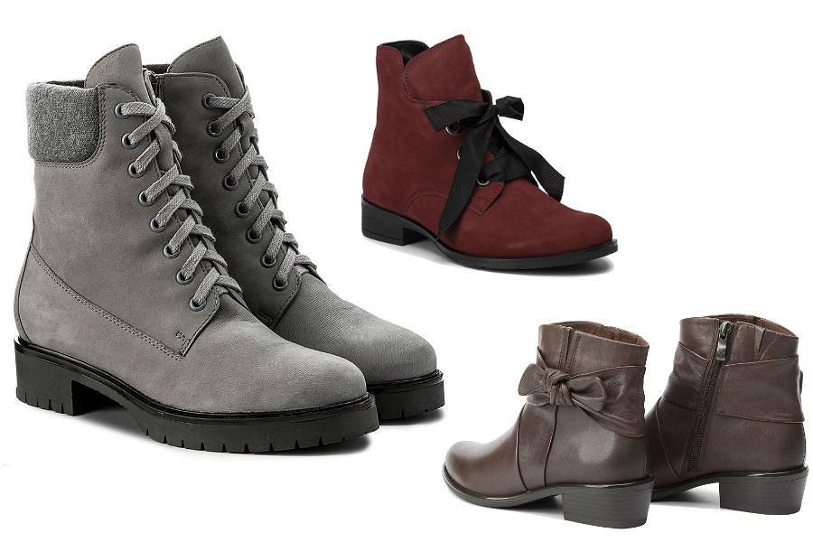 Buty zimowe damskie na płaskim obcasie