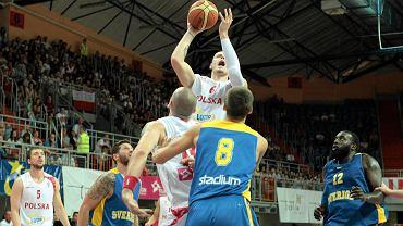 Maciej Lampe w meczu ze Szwecją