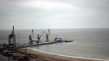 Port w Mariupolu zamarł, grudzień 2018 r.