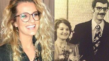 Zofia Zborowska i rodzice - Maria Winiarska, Wiktor Zborowski